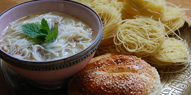 Lebanese Chicken Soup with Sesame Bun by Samara Cuisine Ltd
