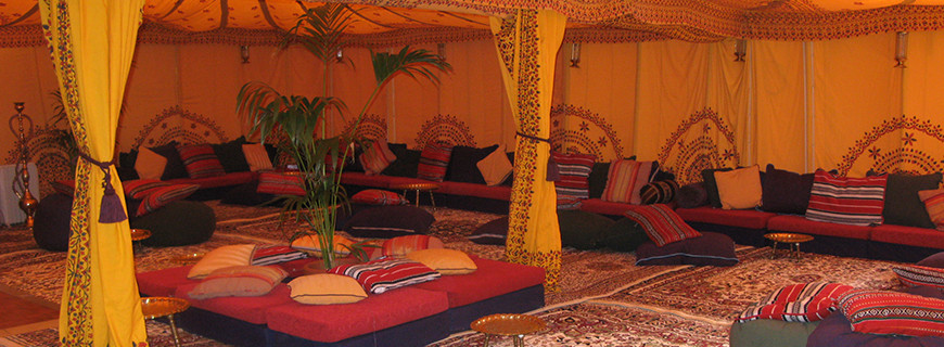 Bedouin Tent Set Up