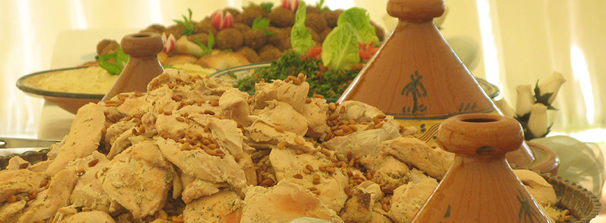 Lebanese Chicken and Rice with Nuts
