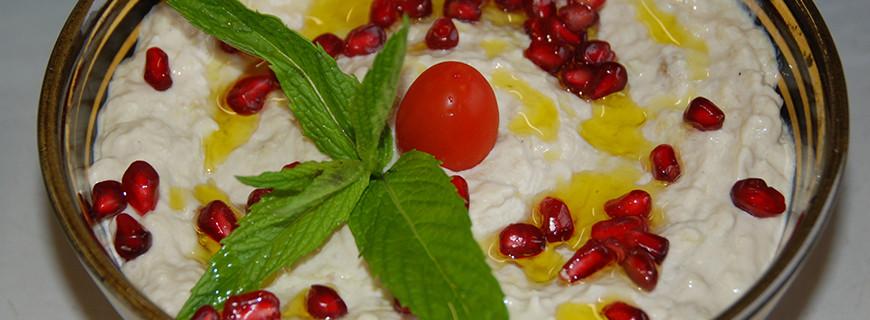 Lebanese Baba Ghanouj - Aubergine and Tahini dip
