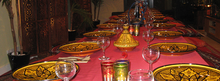 Moroccan Dinner Set Up