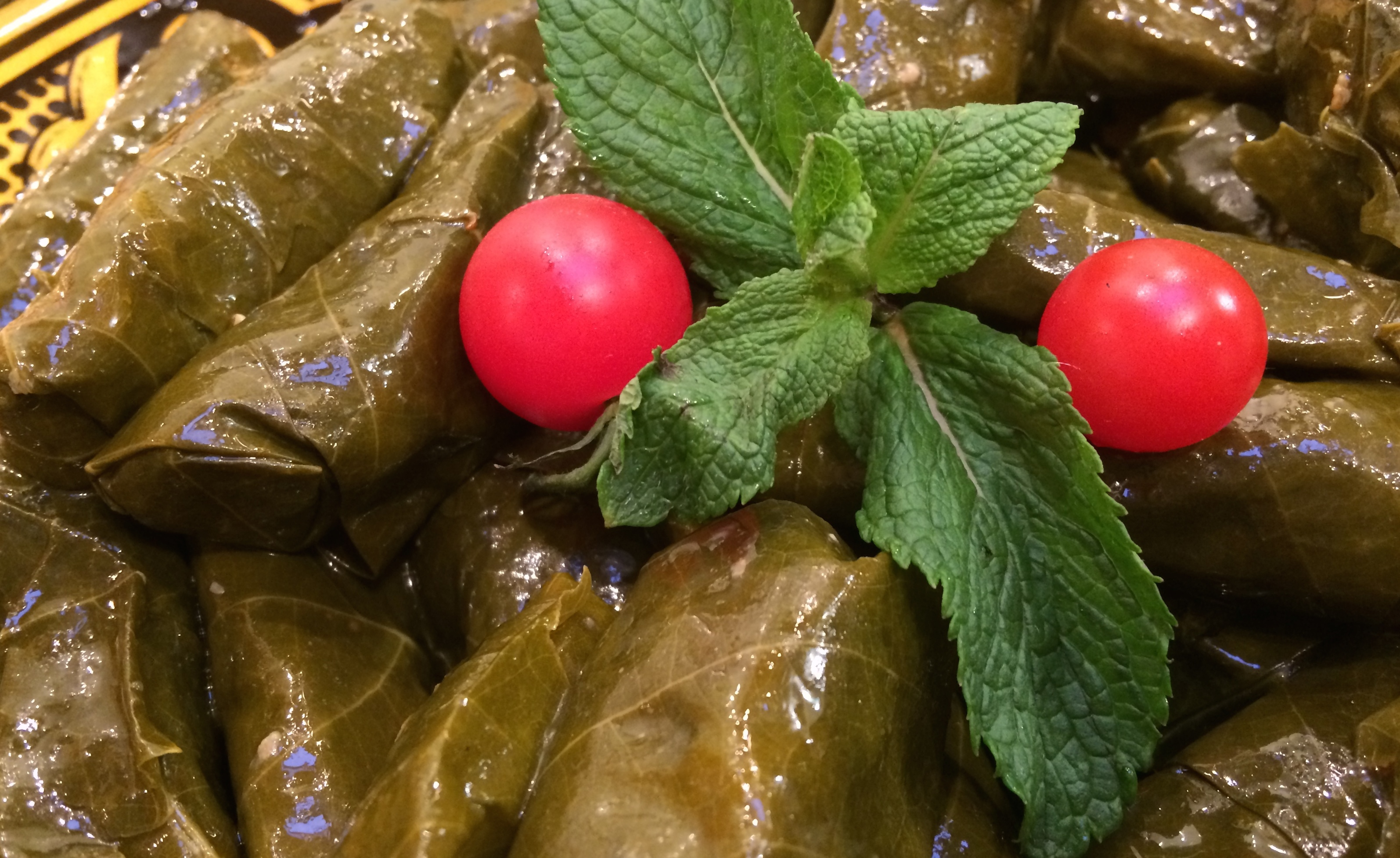 Lebanese Stuffed Vine Leaves with Rice